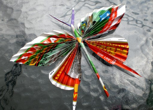Repurposed butterfly out of magazine pages for Spring