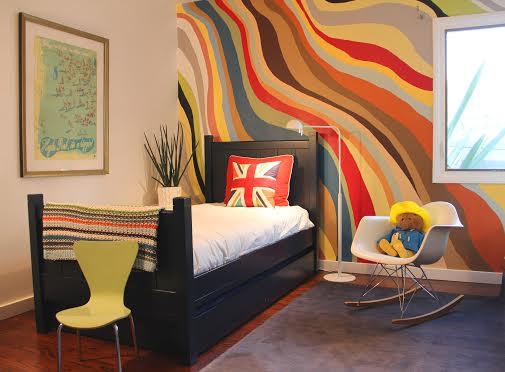 British kids bedroom