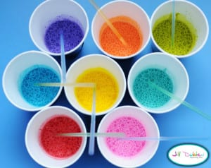 Bubble Painting summer activities for kids