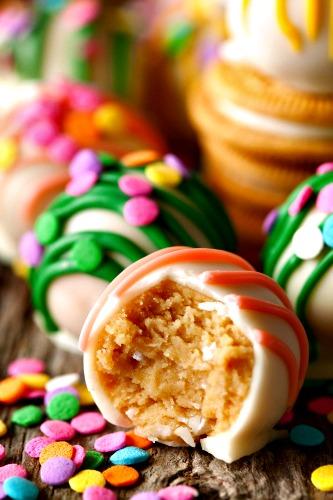 3 ingredient Easter recipes-Golden Oreo Easter Truffles
