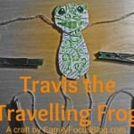 Travis the Travelling Frog Craft