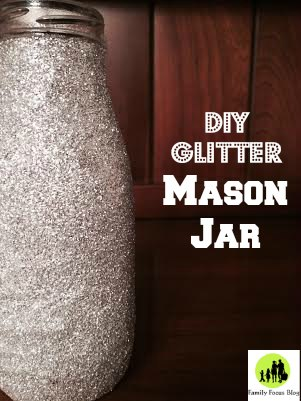 DIY Glitter Mason Jar Craft