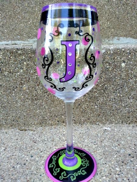 DIY decorative wine glasses with permenamel