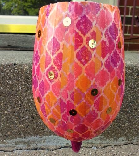 decoupage decorative wine glasses