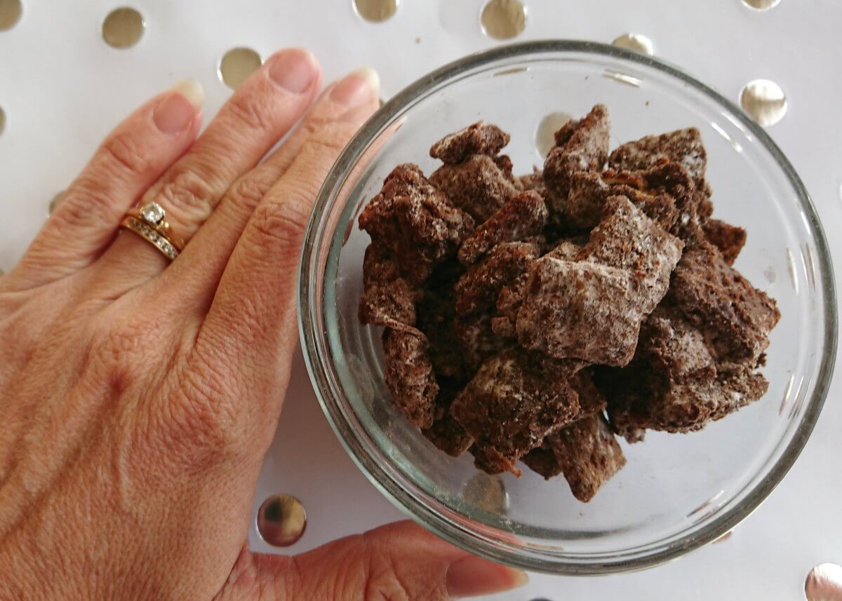 Brownie Puppy Chow Chex Mix Recipe Family Focus Blog