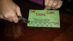 Chore Card punching