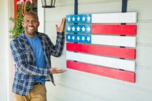 DIY 4th of July Bunting and American Wooden Flag