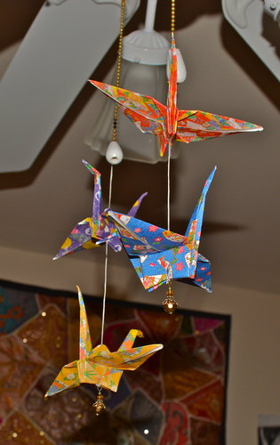DIY Origami Crane Decor