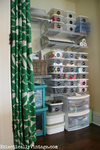 10 organizing hacks for the home family focus blog for Storage solutions for arts and crafts