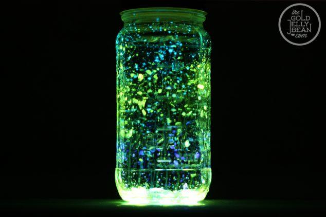 Glow In The Dark Mason Jar Craft