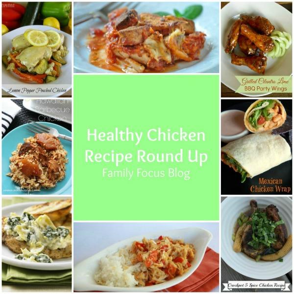 Healthy Chicken Recipes Round Up