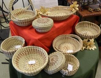 Sweet grass baskets at Ultimate Gullah