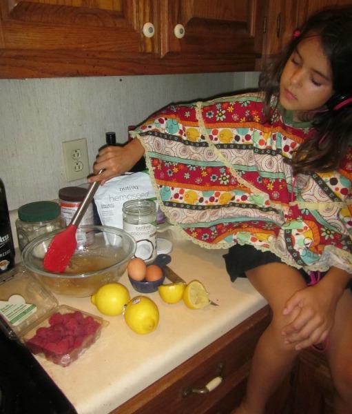 baking healthy lemon raspberry bundt cake