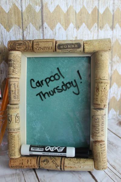 cork and dry erase memo board tutorial