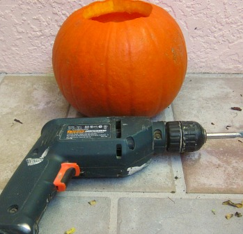 Use a drill to carve your pumpkins! - YouTube