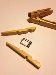 Clothespins for Bride Groom wedding craft