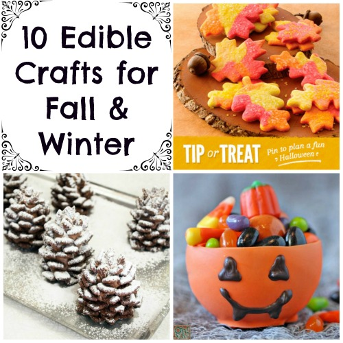 edible winter crafts and edible fall crafts