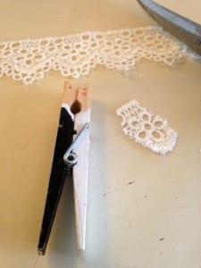 Veil - Bride Groom Clothespin