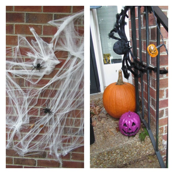 spiders and spider web halloween decorations