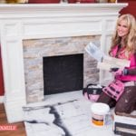 DIY Fireplace Makeover- How To Add A Rock Facing