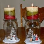 DIY Winter Candle Decor