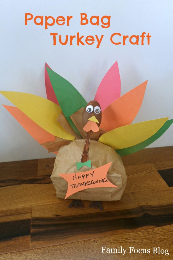 Paper Bag Turkey- Thanksgiving Craft For Kids