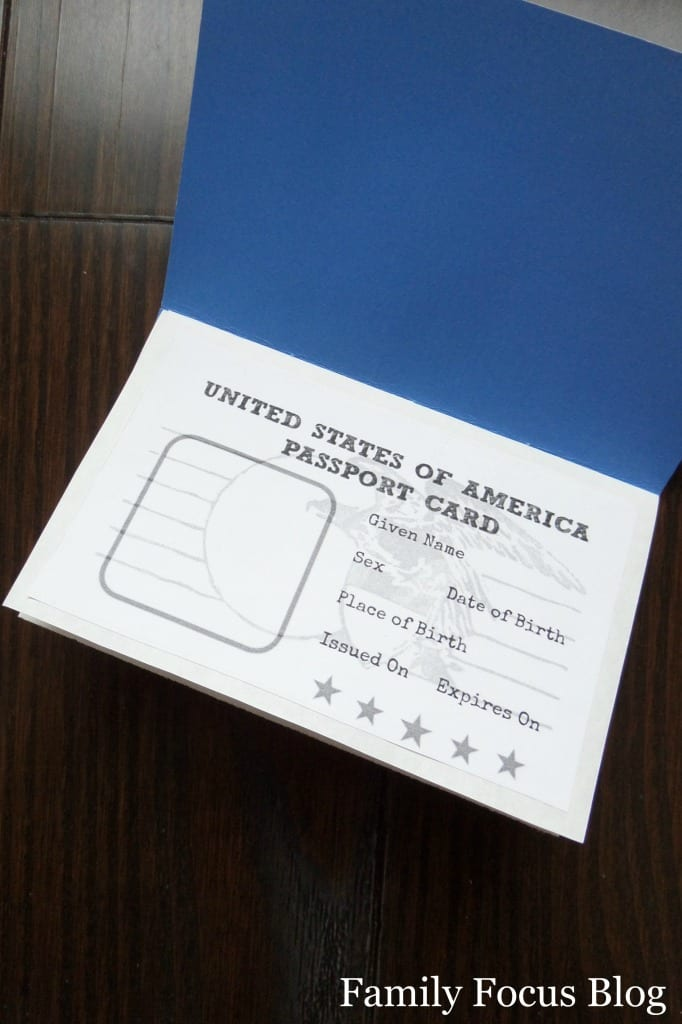 My Continents Passport Craft