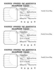 Passport Printable