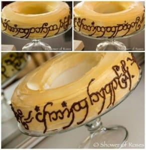 Lord of the Rings Themed Food- Ring Cake