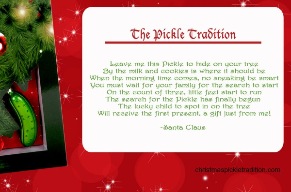 christmas pickle tradition - Christmas Pickle Story