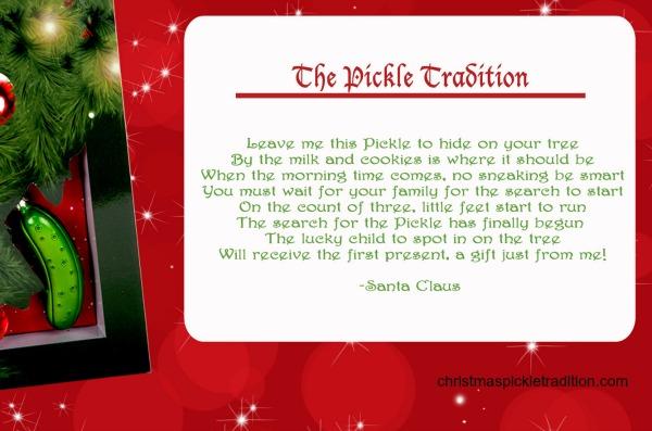 Start the christmas pickle tradition family focus blog for How did the christmas tree tradition start