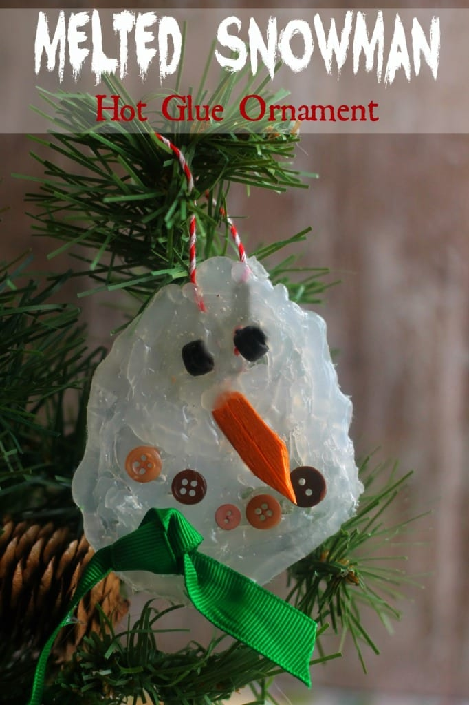 homemade melted snowman ornament