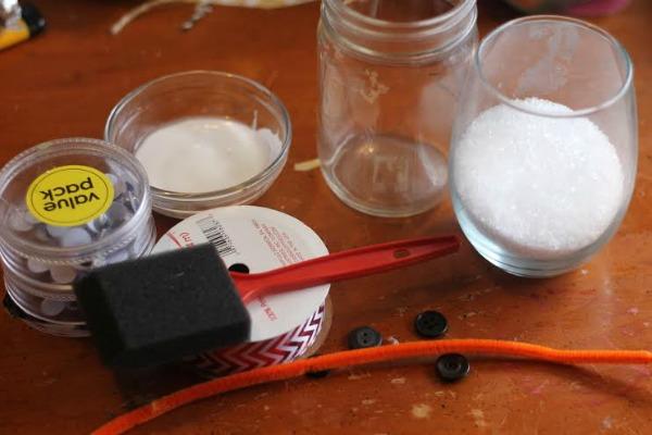 snowman candle car craft materials
