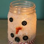 Snowman Candle Jar Craft