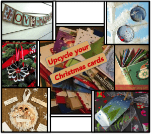Crafts with Old Christmas Cards