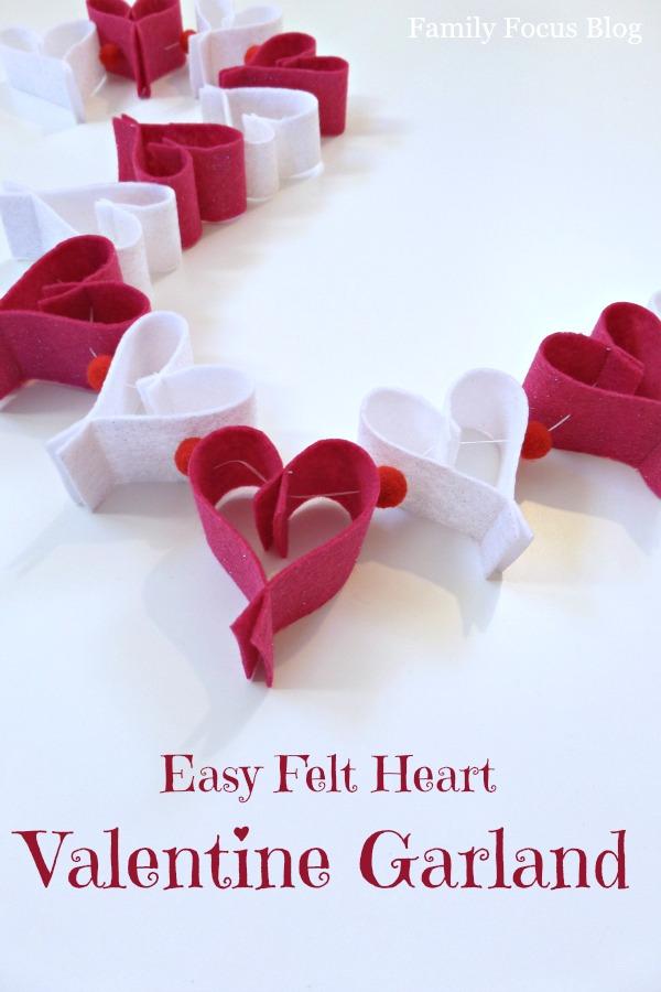 Easy Felt Heart Valentine Garland