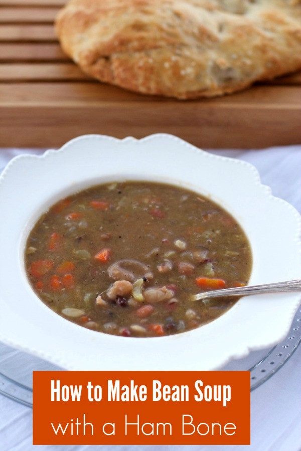 How to Freeze Soup And Recipe For Bean Soup With Ham Bone