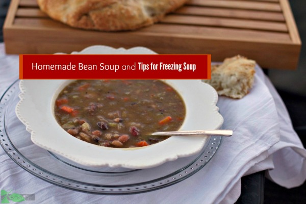 how to freeze bean soup