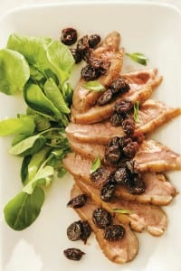 Paleo Duck Recipe- Roasted Duck Breast with Cherry Relish
