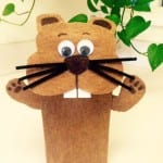 Groundhog Day Craft- How To Make a Groundhog Puppet