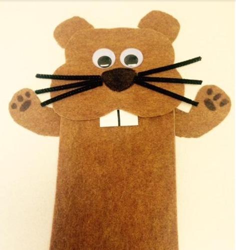 groundhog day puppet craft