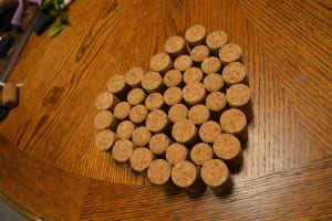 Wine Cork Craft For DIY Valentine's Day Decor