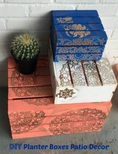 DIY Outdoor Planter Boxes Tutorial- Great Patio Decor