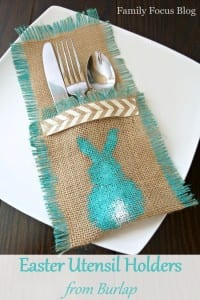 Easter Utensil Holders from Burlap