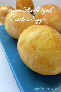 Onion Skin Dyed Easter Eggs - Family Focus Blog