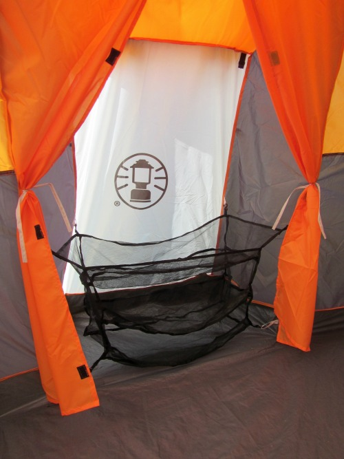 Coleman family tent with closet