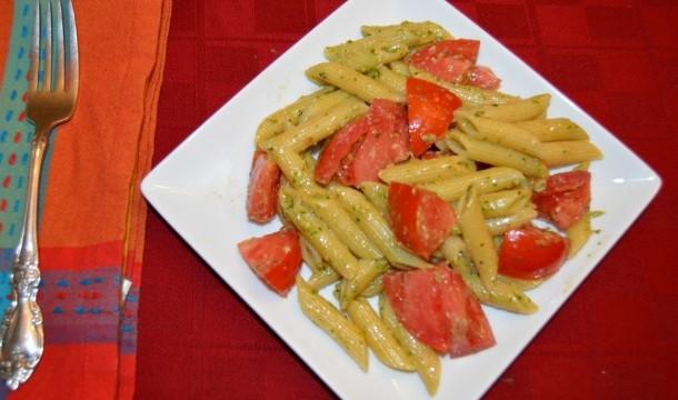 Fresh Tomato And Pesto Pasta Recipe