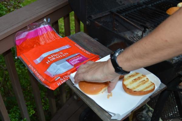 grilled King's Hawaiian buns