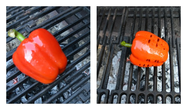 grilled red peper