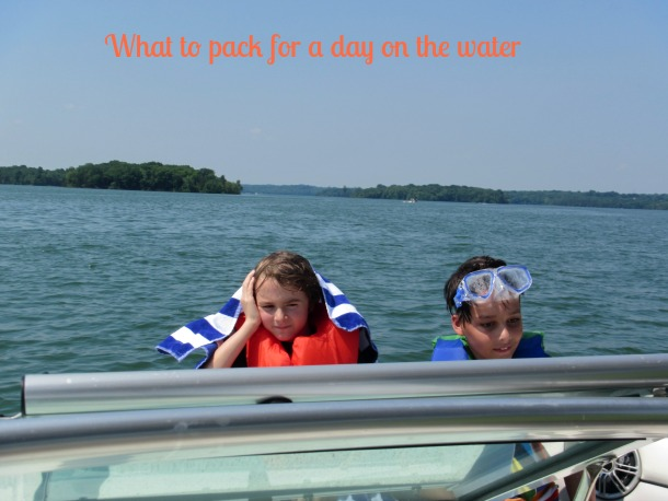 what to pack for a day boating